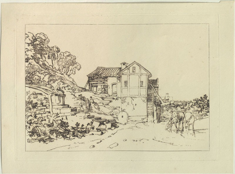 Water Mill (from the Liber Studiorum) (WA.RS.ED.247, Turner, Joseph Mallord William - Liber studiorum - Water Mill ())