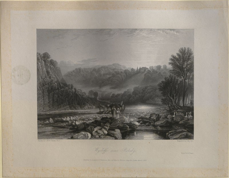 Engraving of Turner's 'Wycliffe, near Rokeby'