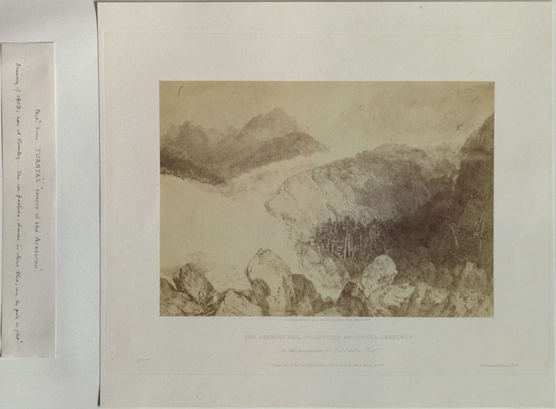 Photograph of Turner's 'Glacier and Source of the Arveron, going up to the Mer de Glace' (WA.RS.ED.285, Caldesi & Co. - Photograph of Turner's