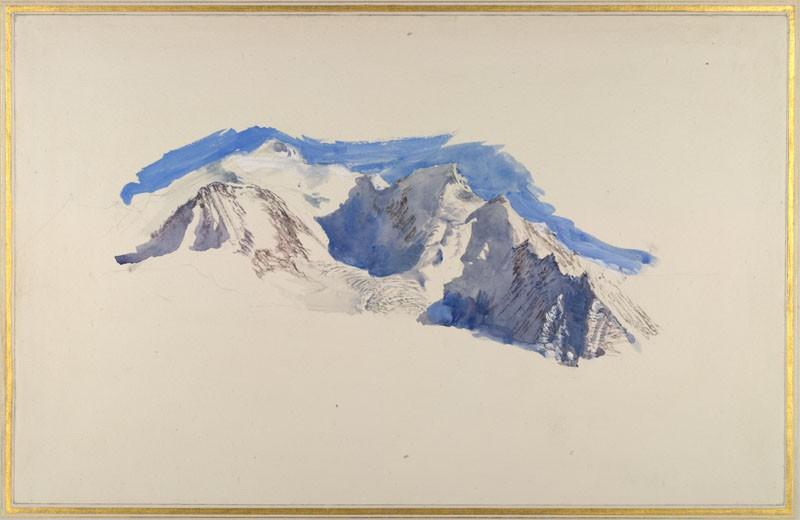 Mont Blanc from Saint-Martin-sur-Arve (WA.RS.ED.288, Ruskin, John - Mont Blanc from Saint-Martin-sur-Arve ())