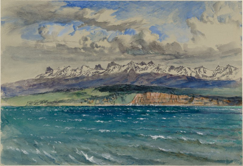 Afternoon in Spring, with south Wind, at Neuchâtel (WA.RS.ED.298.a, Ruskin, John - Afternoon in Spring, with south Wind, at Neuchâtel ())