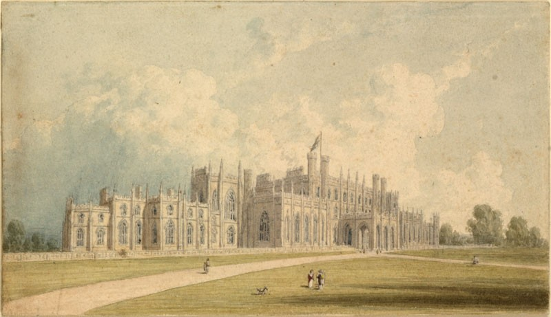 A Gothic Mansion (WA.RS.EXAMPLES.ED.045, Turner, Joseph Mallord William - A Gothic Mansion ())