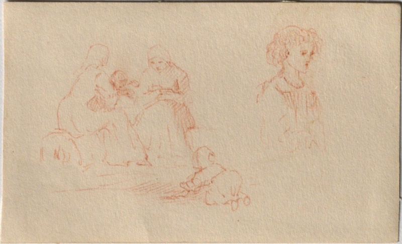 A Study of Women and Children, and a Study of a Child (Leaf from a Sketch-Book) (WA.RS.LC.26, Trotter, Lillias - A Study of Women and Children, and a Study of a Child (Leaf from a Sketch-Book) ())