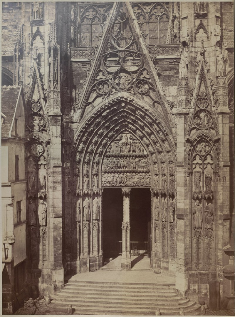 Photograph of the south Transept of Rouen Cathedral, before its Restoration (WA.RS.REF.051, Photograph of the south Transept of Rouen Cathedral, before its Restoration)