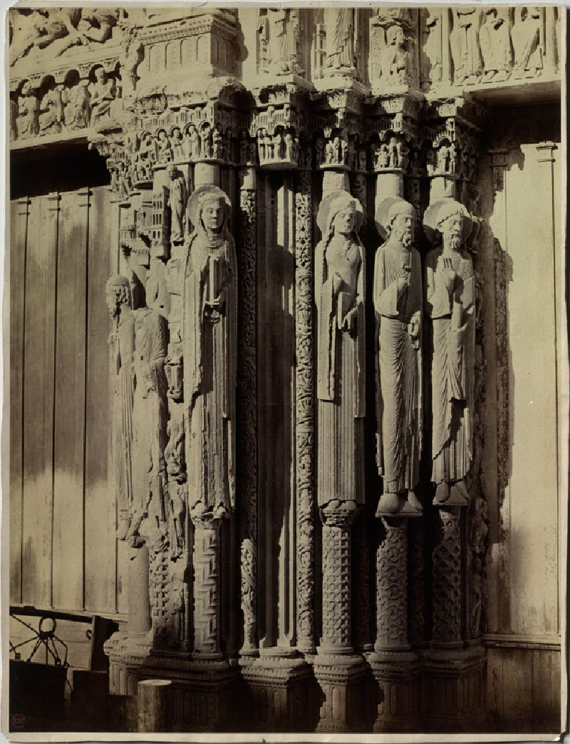 Photograph of the Pier on the north Side of the central western Porch of Chartres Cathedral (WA.RS.REF.055, unidentified - Photograph of the Pier on the north Side of the central western Porch of Chartres Cathedral ())