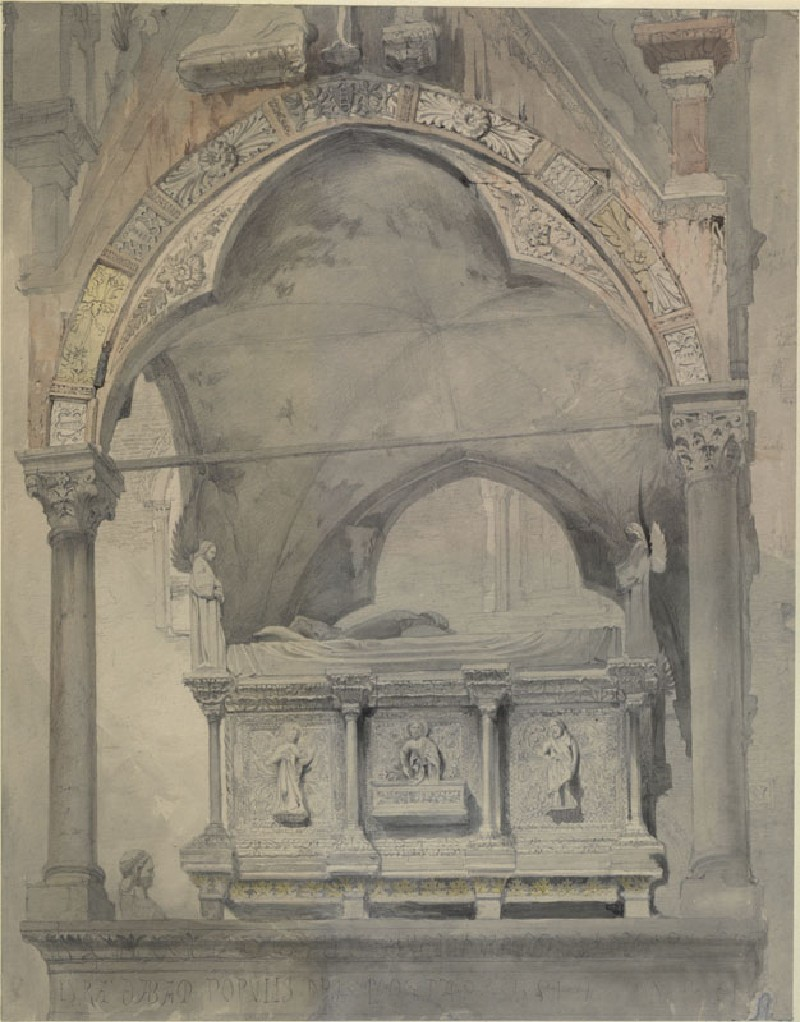 Study for Detail of the Sarcophagus and Canopy of the Tomb of Mastino II della Scala at Verona