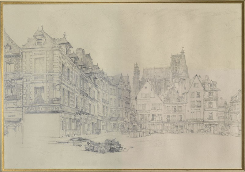 Study for Detail of the Market Place, Abbeville