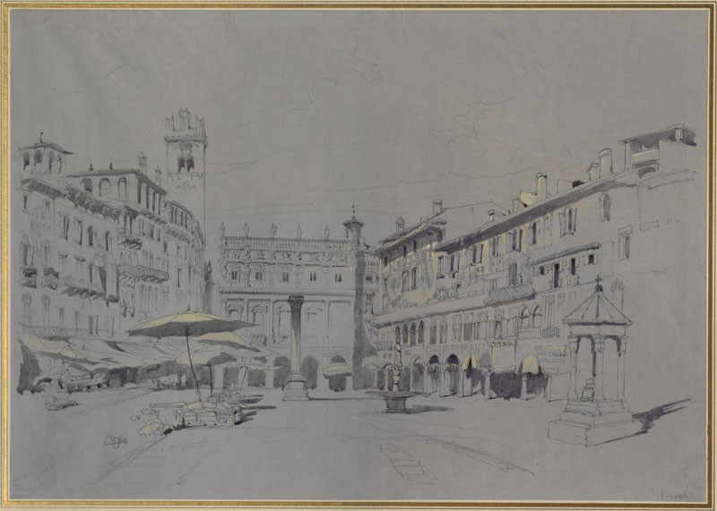 Study for Detail of the Piazza delle Erbe, Verona