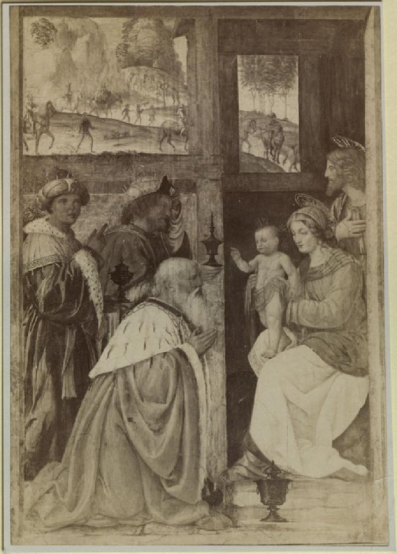 Photograph of Bernardino Luini's 'Adoration of Magi' in the Louvre