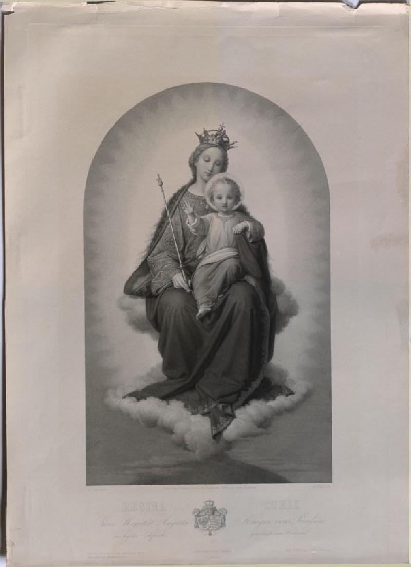 Engraving of Ernst Deger's 'Virgin as Queen of Heaven' (WA.RS.REF.104, Keller, Josef - Engraving of Ernst Deger's