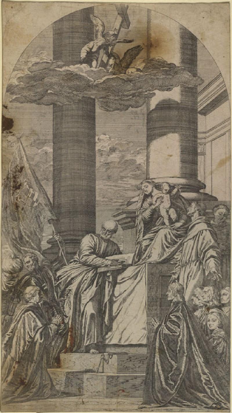 Pesaro Madonna (WA.RS.REF.106, Lefebvre, Valentin - Engraving of Titian's