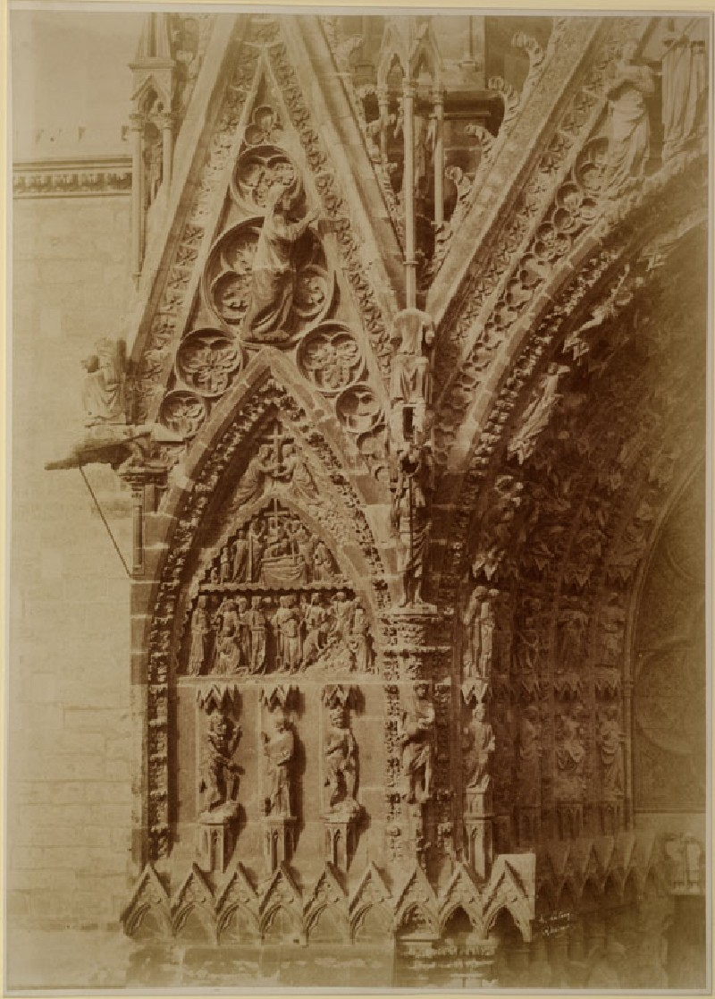 Photograph of the Pier flanking the northern Porch on the west Front of Reims Cathedral (WA.RS.REF.132, Lasieg, H. - Photograph of the Pier flanking the northern Porch on the west Front of Reims Cathedral ())
