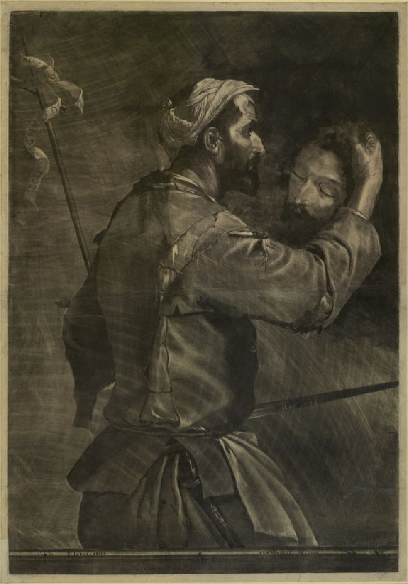 The Executioner with the Head of Saint John the Baptist (WA.RS.REF.159, Ruprecht, prince - Mezzotint of