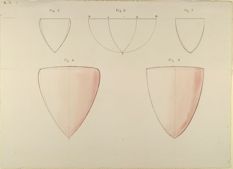 Five Diagrams showing the two Types of developed Form in the English Shield (WA.RS.RUD.003, Ruskin, John - Five Diagrams showing the two Types of developed Form in the English Shield ())