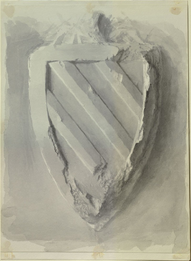 Study of the Form of a Shield, from the Tomb of Eleanor of Castile in Westminster Abbey