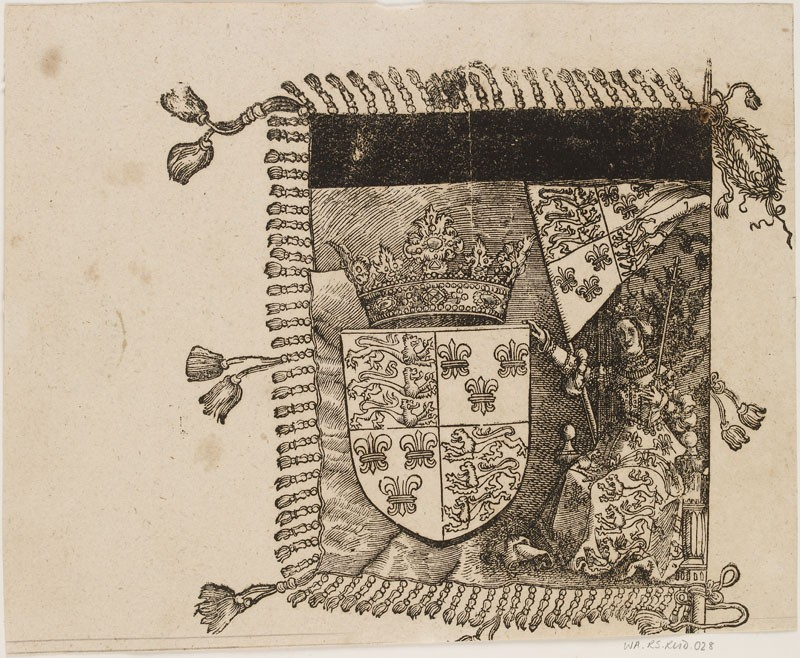 A heraldic Banner (cut from a Plate in 'The Triumph of Maximilian')
