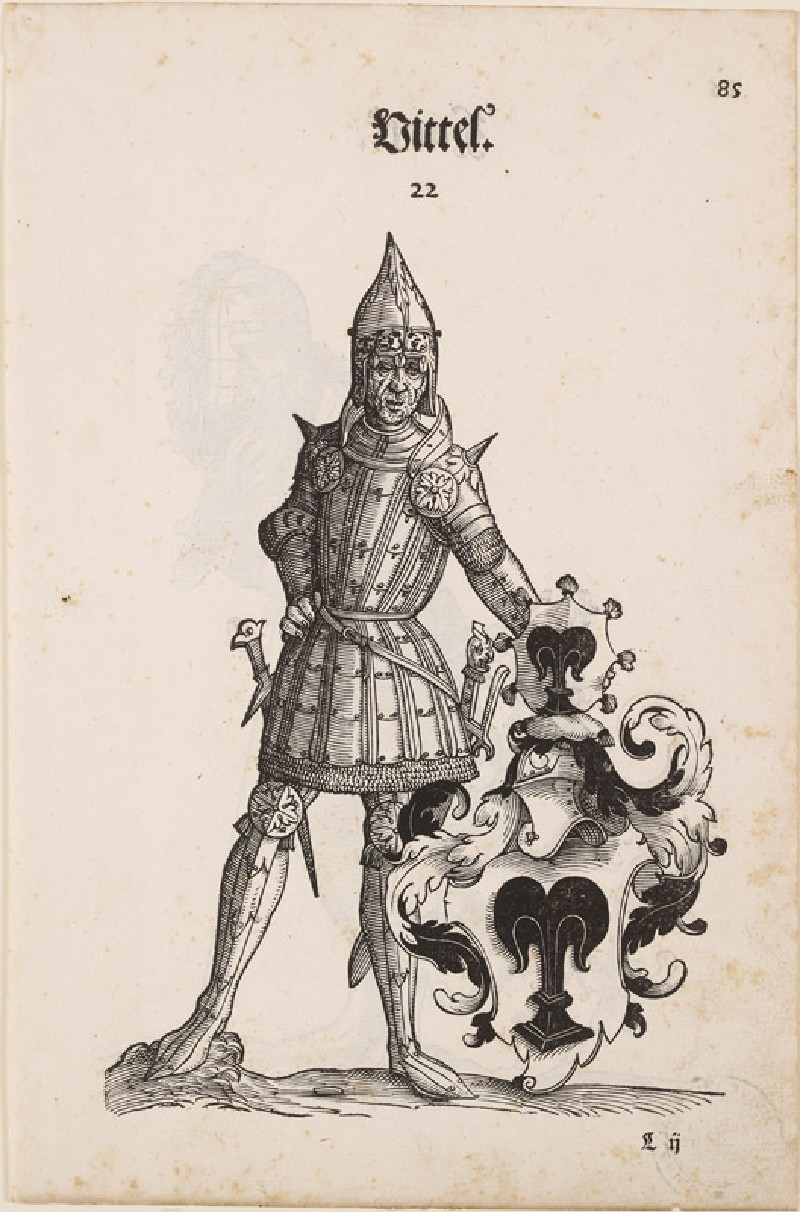 Recto: A Man in Armour with the Arms of Vittel 