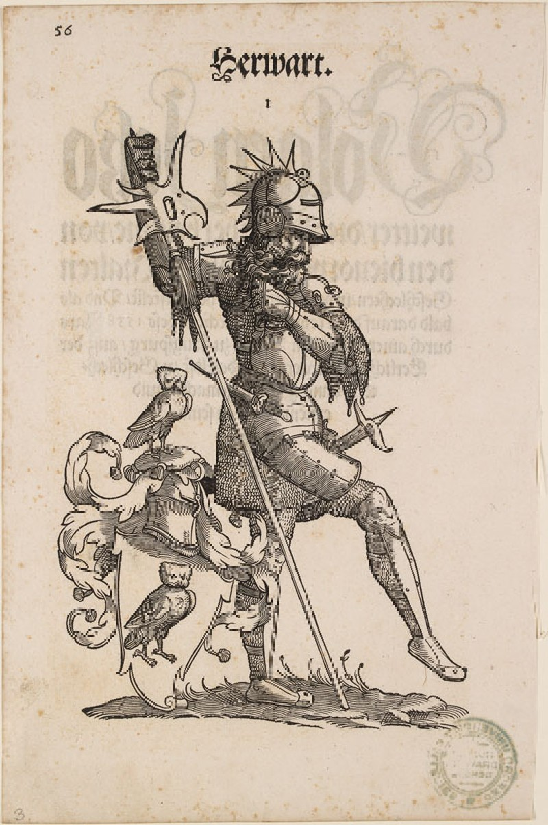 A Man in Armour with the Arms of Herwart (WA.RS.RUD.035.a, A Man in Armour with the Arms of Herwart (recto))