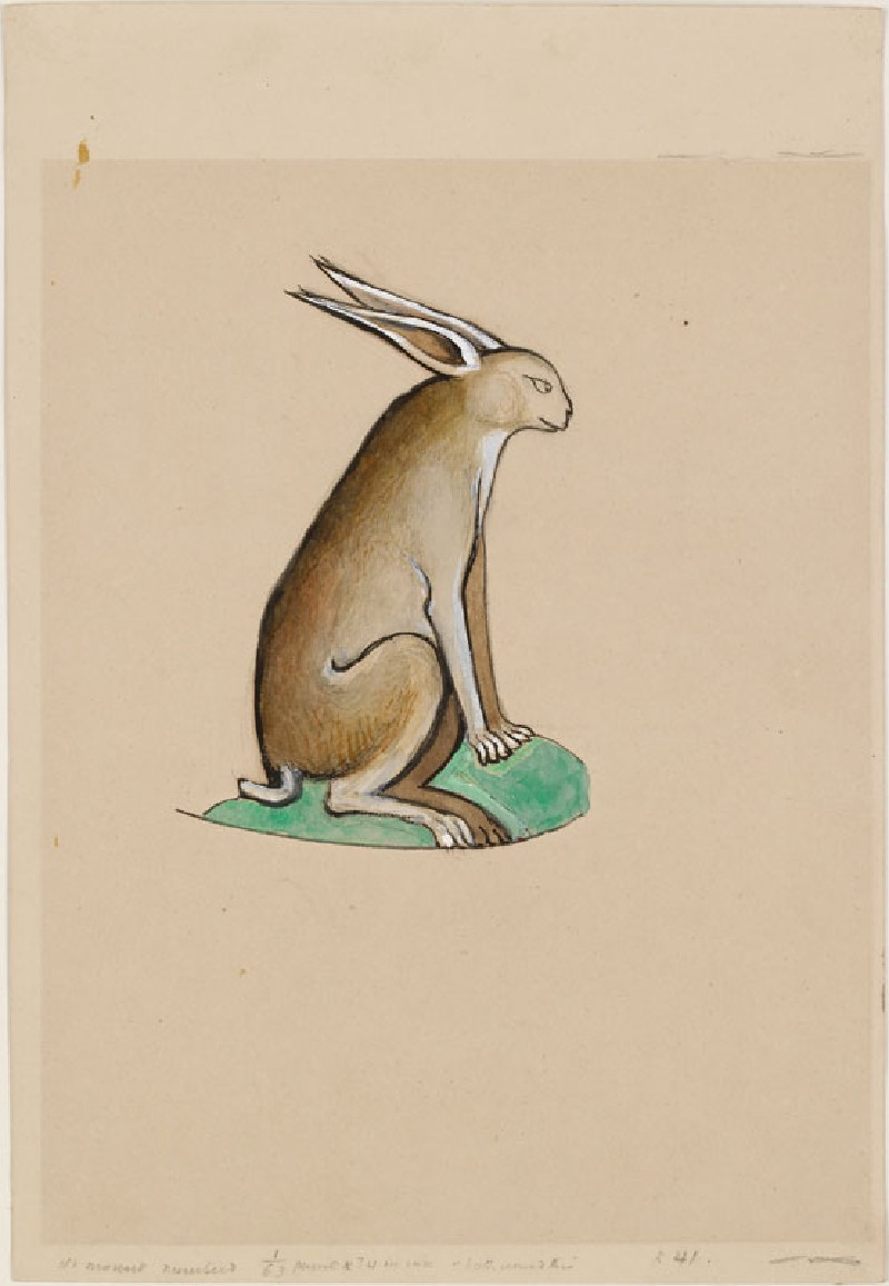 Drawing of a Hare from the Ormesby Psalter (WA.RS.RUD.041.a, Drawing of a Hare from the Ormesby Psalter)