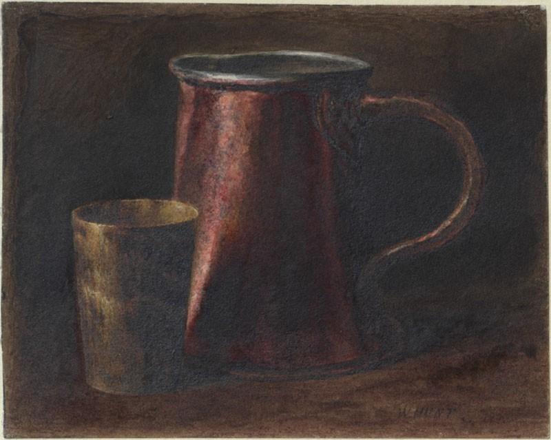Study of a Copper Pot and a Horn Mug