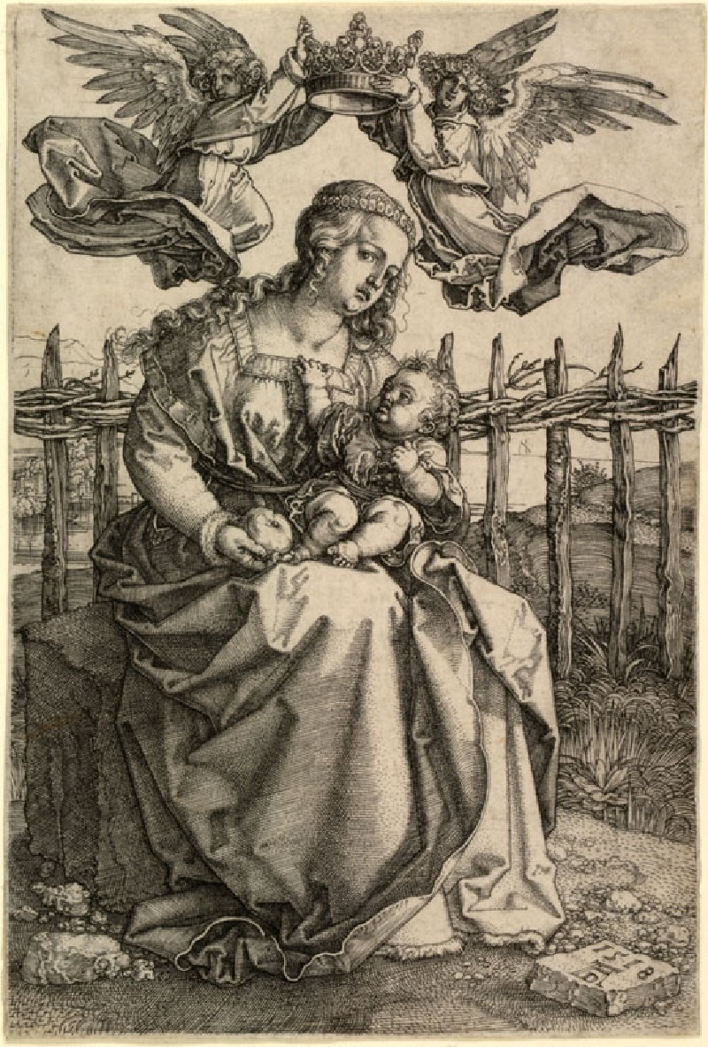 The Virgin crowned by two Angels (WA.RS.RUD.066, Dürer, Albrecht - The Virgin crowned by two Angels ())