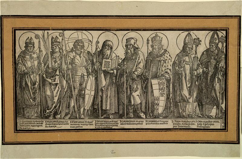 The Patron Saints of Austria (WA.RS.RUD.070, Dürer, Albrecht, and Hans Springinklee - The Patron Saints of Austria ())
