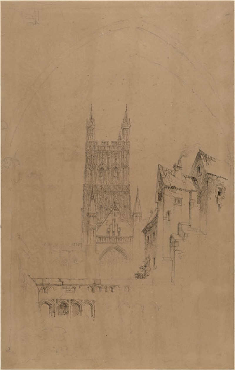 The Tower of Gloucester Cathedral (WA.RS.RUD.087, Ruskin, John - The Tower of Gloucester Cathedral ())