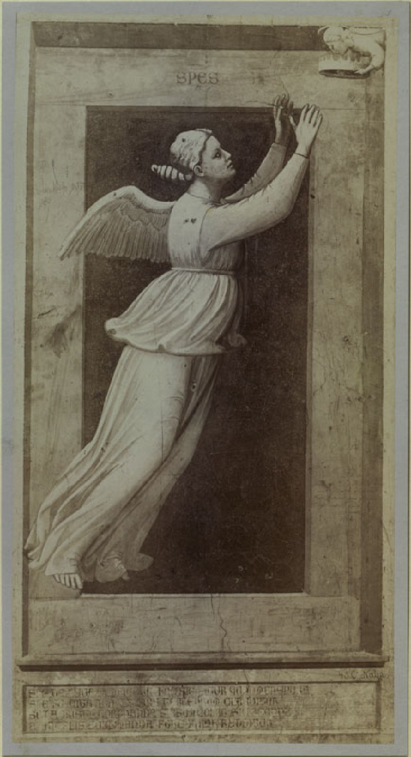 Photograph of Giotto's Fresco of Hope (from the series of 'Virtues and Vices' in the Arena Chapel, Padua)