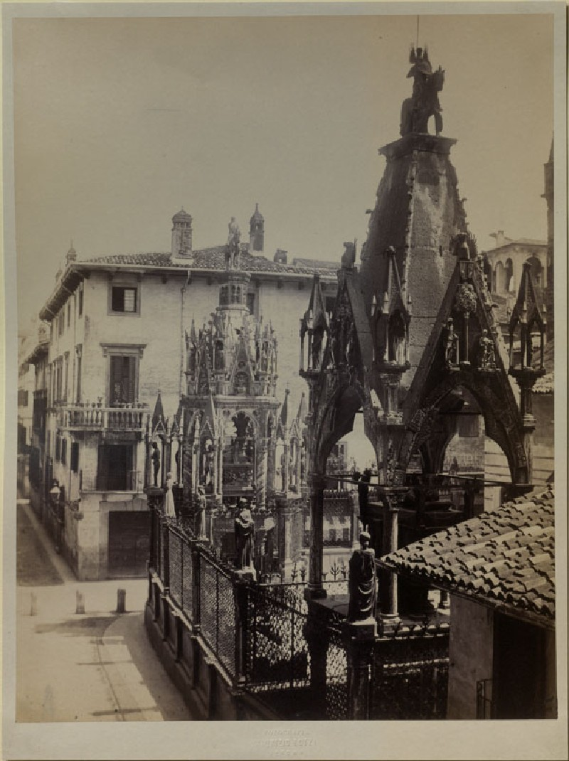 Photograph of the Tombs of Mastino II della Scala and Cansignorio della Scala, Verona