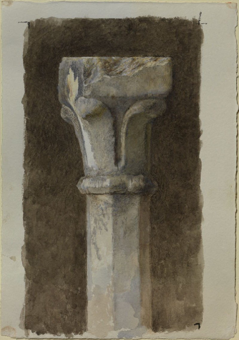 Study of a Capital of one of the Upper Pinnacles of the Tomb of Cansignorio della Scala, Verona
