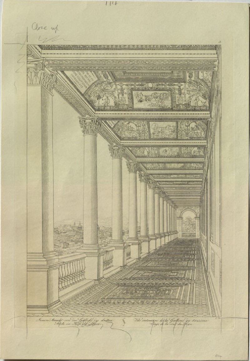 Engraving of the Third Loggia of the Vatican Palace (WA.RS.RUD.114, Thurmer, Joseph - Engraving of the Third Loggia of the Vatican Palace ())