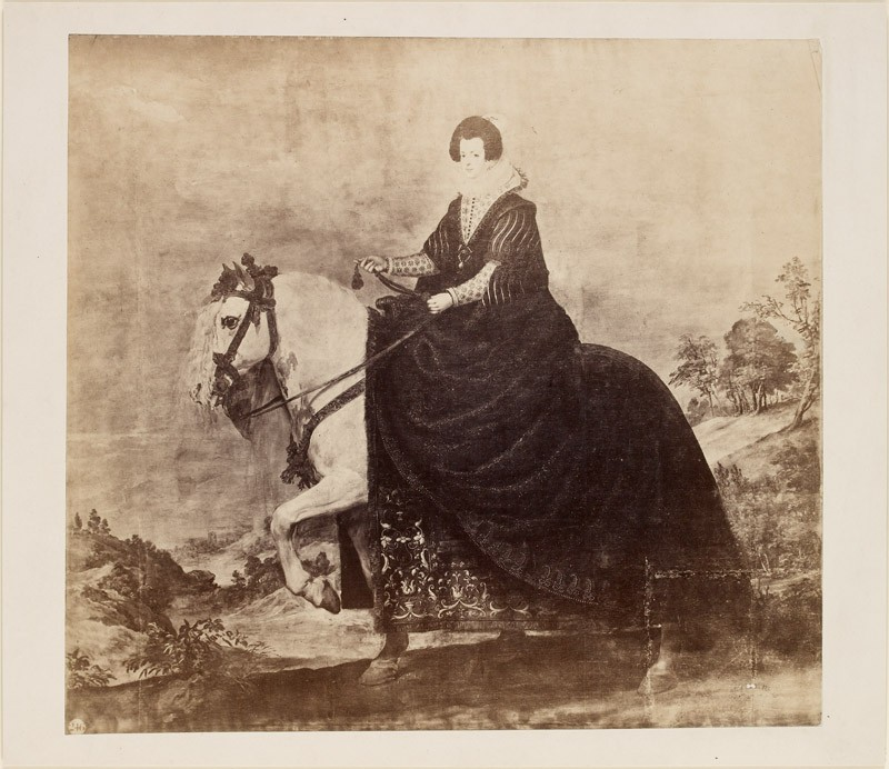 Photograph of Velázquez's 'Portrait of Isabel of Bourbon on Horseback'