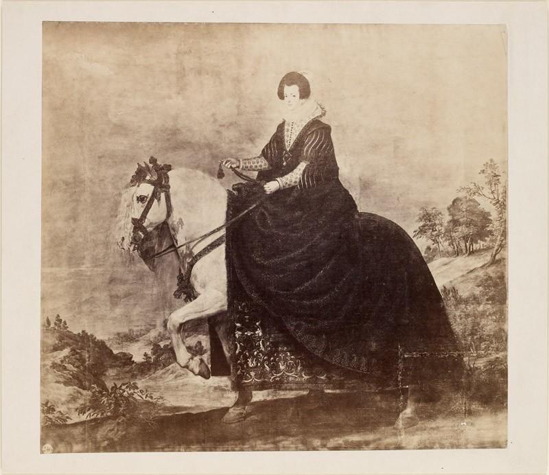 Photograph of Velázquez's 'Portrait of Isabel of Bourbon on Horseback' (WA.RS.RUD.120, unidentified - Photograph of Velázquez's