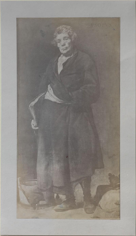 Photograph of Velázquez's 'Aesop' (WA.RS.RUD.123, unidentified - Photograph of Velázquez's