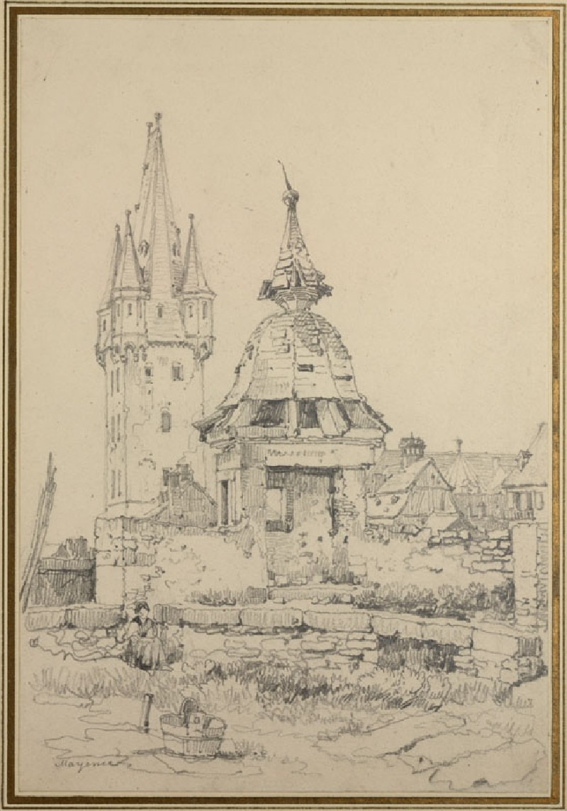 On the Walls at Mainz (Mayence) (WA.RS.RUD.137, Prout, Samuel - On the Walls at Mainz ())
