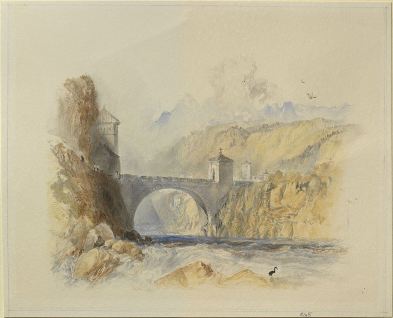 Drawing of Turner's 'Saint Maurice' (WA.RS.RUD.145, Ward, William II - Drawing of Turner's