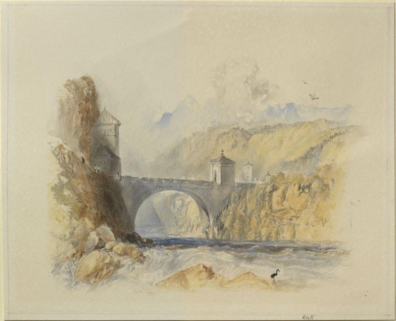 Drawing of Turner's 'Saint Maurice'