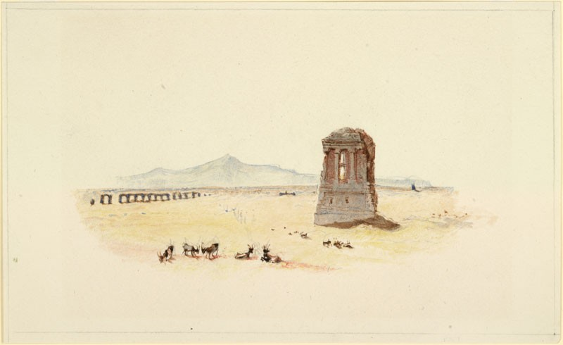 Drawing of Turner's 'The Campagna of Rome'