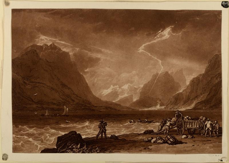 Lake of Thun (from the Liber Studiorum)