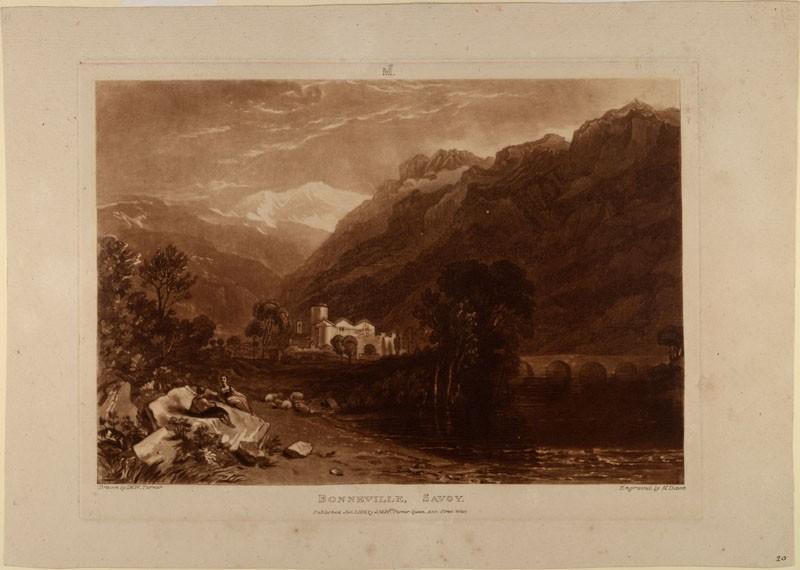 Bonneville (from the Liber Studiorum) (WA.RS.RUD.168, Turner, Joseph Mallord William - Liber studiorum - Bonneville ())