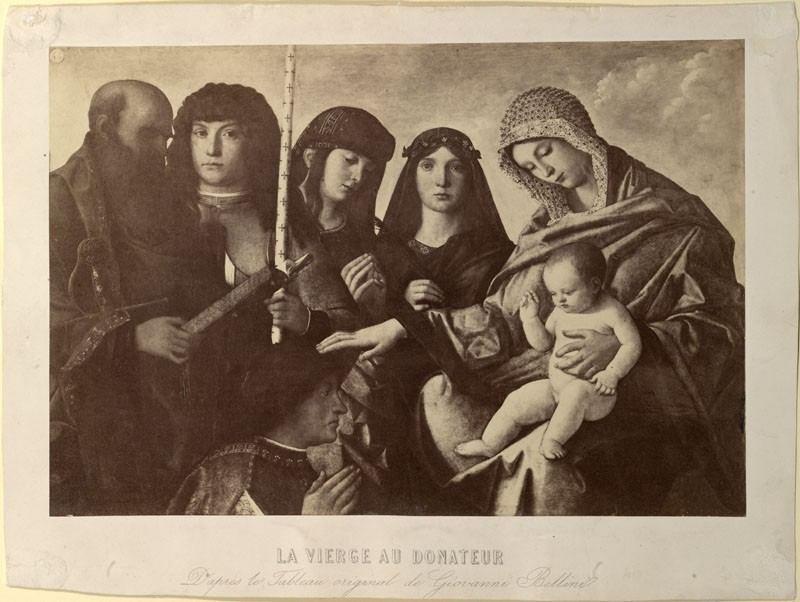 Photograph of Giovanni Bellini's 'Virgin and Child with four Saints and a Donor'