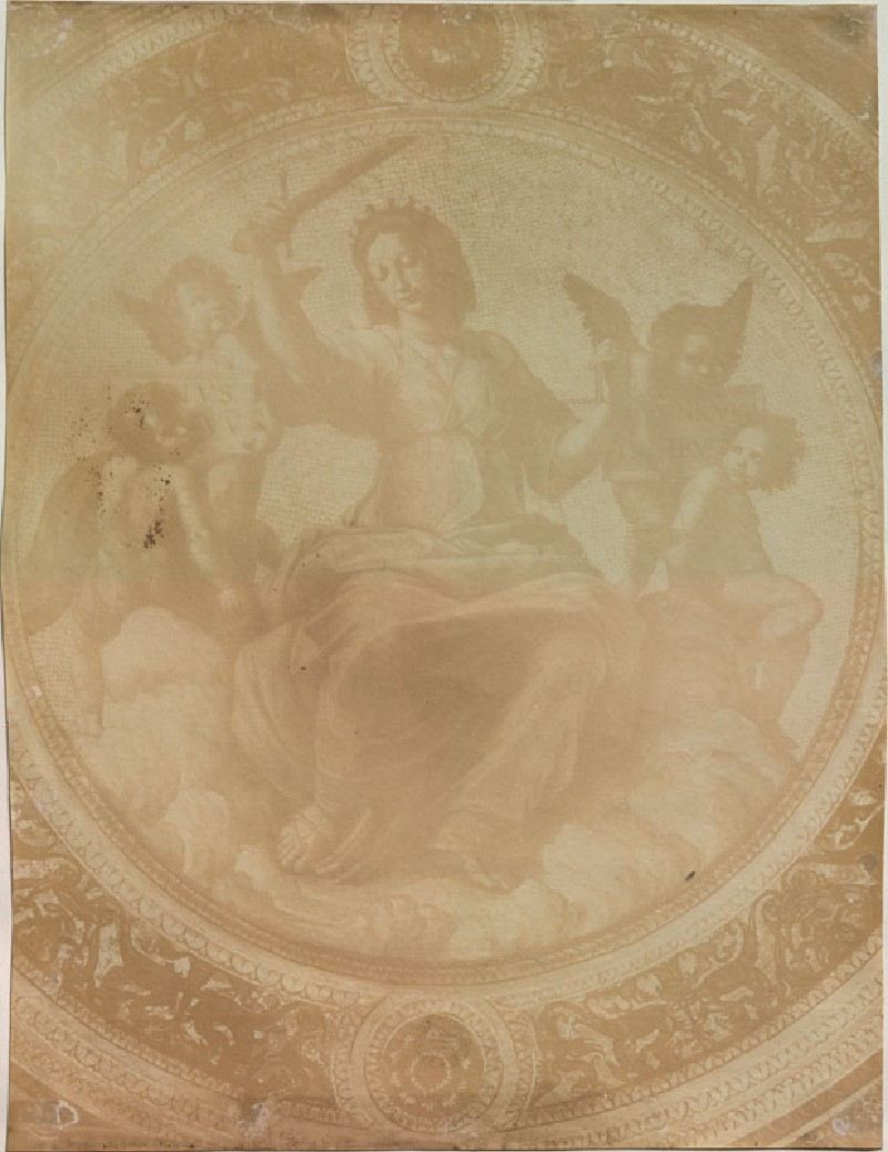 Photograph of Raphael's 'Justice' on the Ceiling of the Stanza della Segnatura (WA.RS.STD.018, unidentified - Photograph of Raphael's