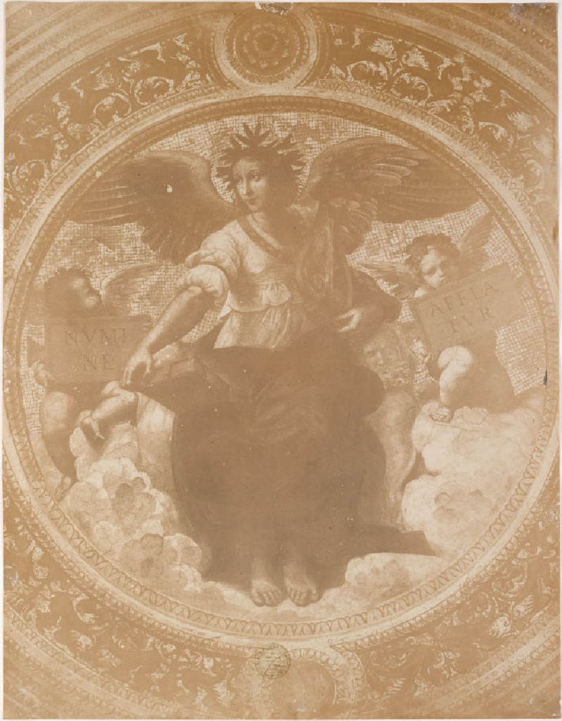 Photograph of Raphael's 'Poetry' on the Ceiling of the Stanza della Segnatura (WA.RS.STD.019, Photograph of Raphael's