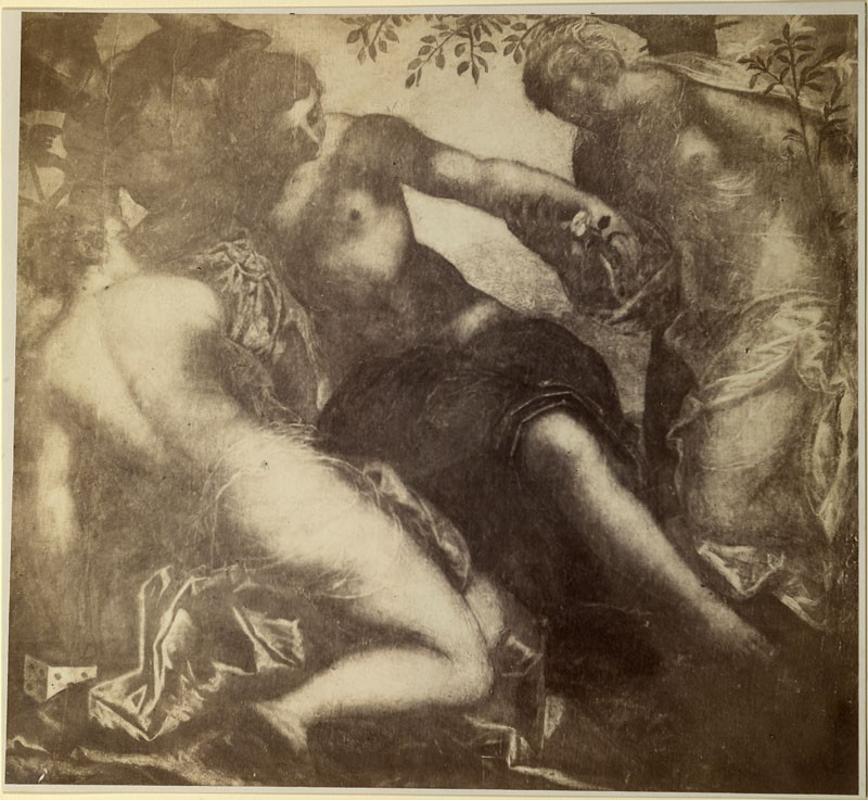 Photograph of a detail of Tintoretto's 'The Three Graces and Mercury'