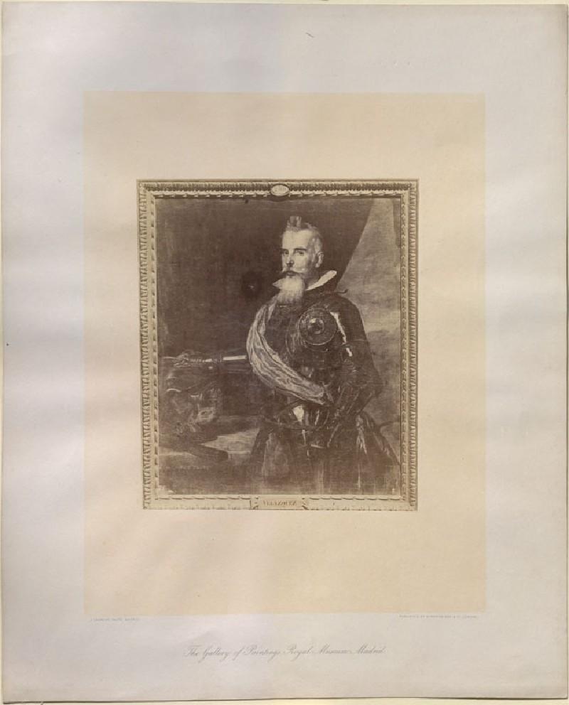 Photograph of Velázquez's 'Portrait of Juan Francisco de Pimentel, Count of Benavente' (WA.RS.STD.046, Laurent, Juan - Photograph of Velázquez's