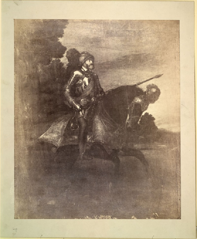Photograph of Titian's 'Portrait of Charles V at the Battle of Mühlberg'