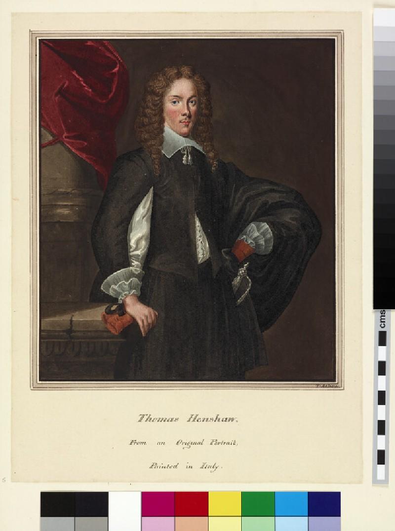 Copy of a Portrait of Thomas Henshaw (WA.Suth.B.1.304.5)