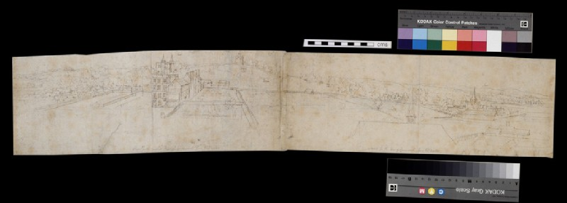 Recto: Sheet of studies of Greenwich Palace