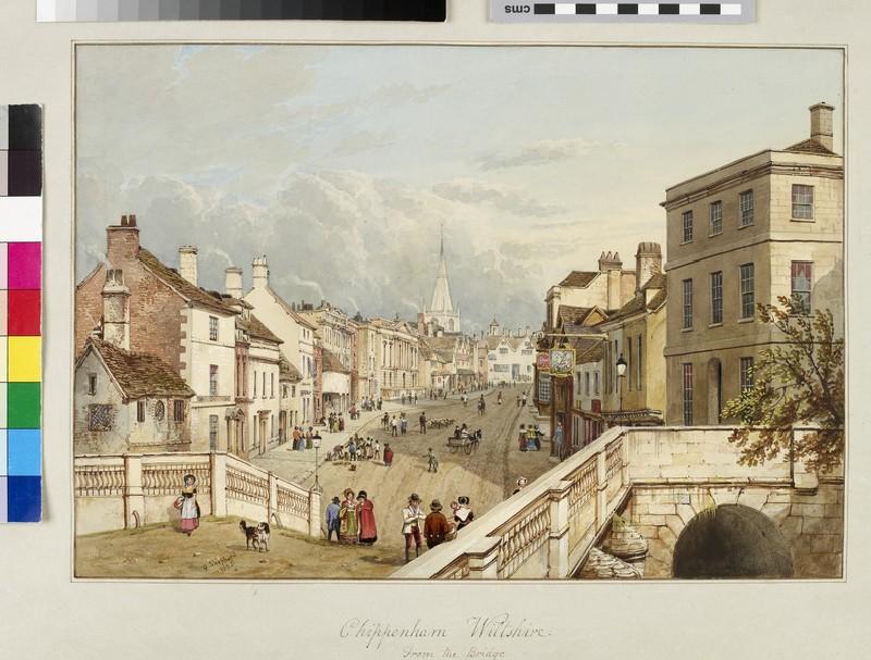 Chippenham, Wiltshire, from the Bridge (WA.Suth.C.2.221.1)