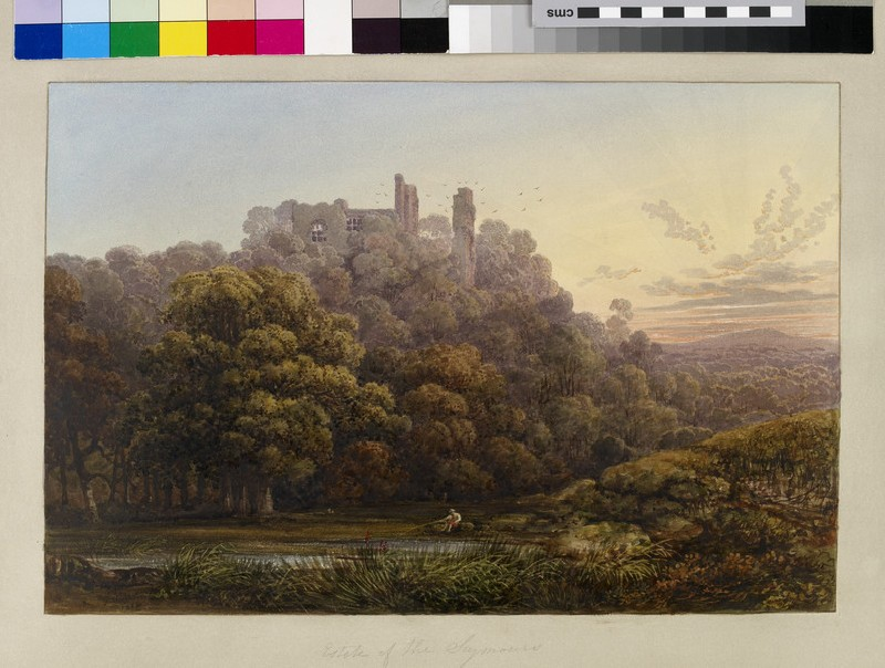 View of Berey Pomeroy Castle, Devon